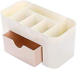 Desktop Drawer Organizer Saving Space Desk comestics Toiletry Organizer Makeup Stationery Storage box(Pink)