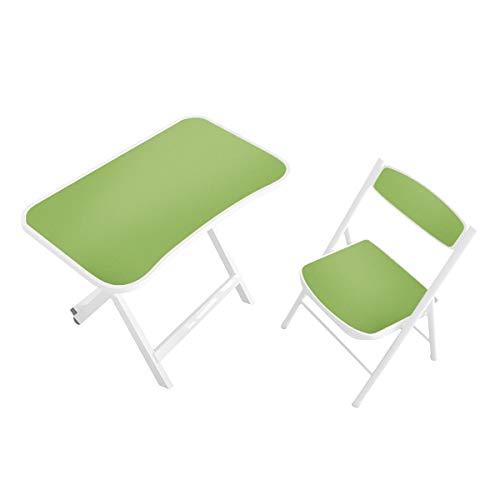 Kidoo Kindertisch + Stuhl für Kinder – Bürotisch oder Spieltisch für Kinder (grün)