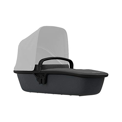 Quinny Lux Kinderwagenaufsatz, passend für Buggy Zapp Flex und Zapp Flex Plus, ultraleichte Babywanne, robust und atmungsaktiv, nutzbar ab der Geburt bis 6 Monate, black on graphite