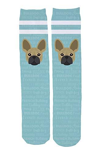 Mystic Sloth Dog Breed Design Novelty Knee High Socks (French Bulldog)
