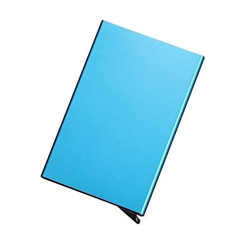 Creditcard Houder Case, Business Card Houder -Houd Zakelijke Kaarten in Onbevlekte Staat NS(Pop kaart omhoog zodra u op druk!) Eén maat Blauw
