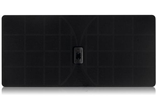 RGTech Monarch 50 Black Flat Paper Thin Indoor HDTV Antenna - 50 Mile Range Multidirectional...