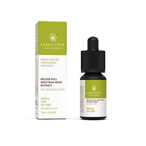 Lamacoppa - Bio-Hanfsamenextrakt in 10ml in Olivenöl Extra Vergine | Öl Tropfen Reich an Omega 3-6, Vitamine [10ml] - Made in Italy