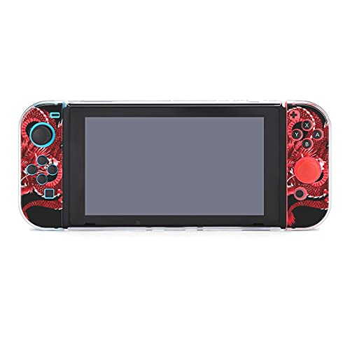 Funda para Nintendo Switch Red Japanese Dragon 5 piezas Funda protectora compatible...