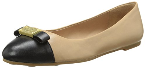 Marc by Marc Jacobs Women's Tuxedo Logo Plaque Ballet Flat, Black, 39.5 EU/9.5 M US