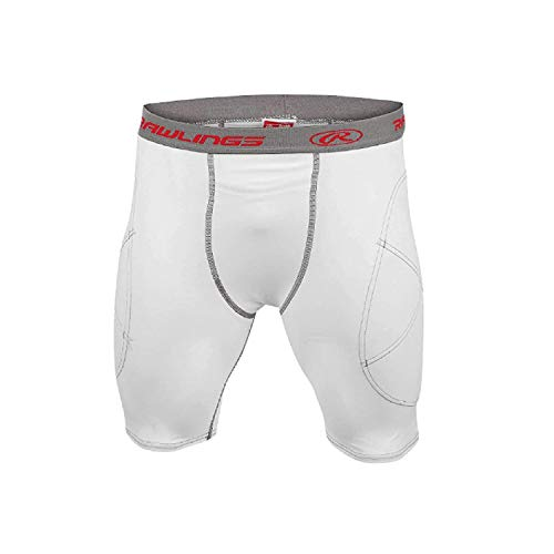 Rawlings Adult Men's Baseball Sliding Shorts White, X-Large