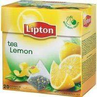 Lipton Lemon Tea Aromatisierter Schwarztee 12 x 20 Pyramiden Teebeutel