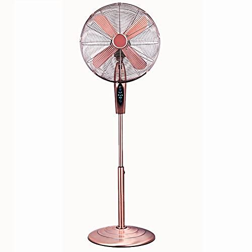 Ventiladores de Pedestal Ventilador De Pie De 16 Pulgadas, 3 Velocidades/Ventilador De Enfriamiento De Altura Ajustable, Ventilador con Cabezal Giratorio, con Control Remoto/Temporizador/Pantall