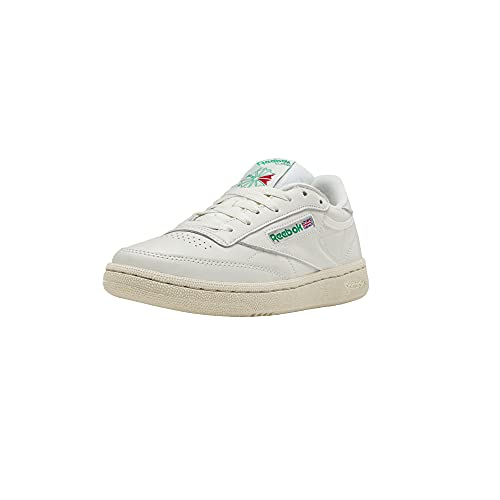 Reebok Women's Club C 85 Sneaker, Chalk/Glen Green/Paper White/Excellent Red, 7