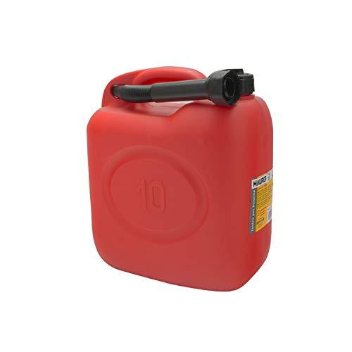 Maurer 54693 Tanica in Plastica per Benzina, 10 L, Rosso