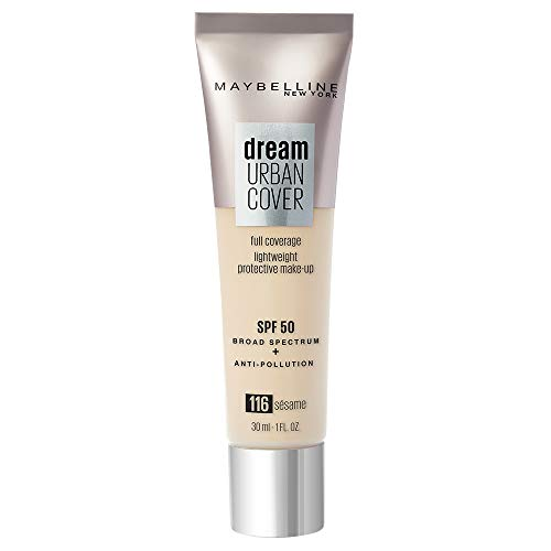 Maybelline New York Fondotinta Liquido Dream Urban City, Coprenza Medio-Alta, Spf 50, 116 Sesame - 6.5 Gr
