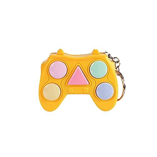 YQRDSHJS Memory-Spielekonsole, Tragbare Handheld-Mini-Spielekonsole, Relax Release-Schlüsselbund Push Pop Squeeze Anti-Angst Spielzeug Push Zappeln Spielzeug Popit Stressabbau für Kinder