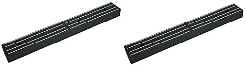 "Master Magnetics 07577 Magnetic Tool Holder with Magnetic Mount, 12"" Wide, 30 lb per inch, Flat, Black (2-Pack)"