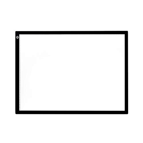 Hemoton Tablero de dibujo con luz LED de brillo regulable A4, tablero digital para tableta, para fotocopiadora táctil