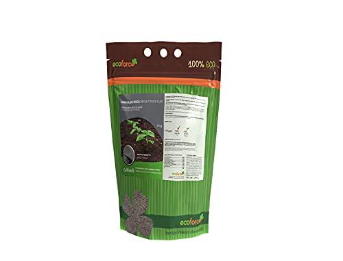 CULTIVERS Force Stone Harina de Roca (polvo de basalto). Fertilizante Ecológico a base de Silicio que aporta Microelementos para todo tipo de plantas (2 Kg)