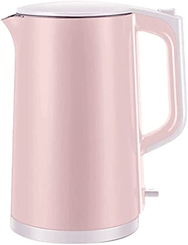 Silent kettle 1,7L 1500-2000W electric kettle, automatic power cord storage, stainless steel electric kettle, quick boiling kettle (Color : Red, Size : One Size)