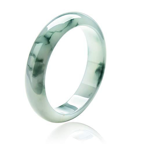 Rundes Jade Armreif Armband Weiblicher Natürlicher grüner Handgefertigter Schmuck Jadeit Edelstein Kunsthandwerk für Frauen,54mm
