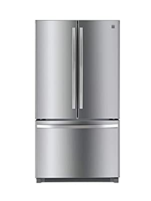 Kenmore 4673025 Alexa Capabilities 04673025 26.1 cu.ft. Non-Dispense French Door Refrigerator with Active Finish, Stainless Steel, cu. ft