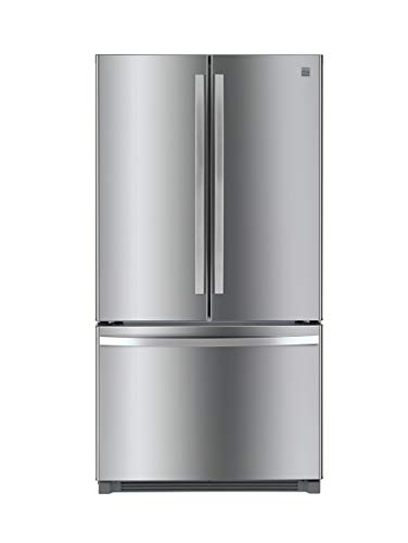 Kenmore 4673025 Alexa Capabilities 04673025 26.1 cu.ft. Non-Dispense French Door Refrigerator with Active Finish, cu. ft, Fingerprint Resistant Stainless Steel
