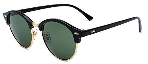 Moda Gafas De Sol Polarizadas para Hombre, con Revestimiento De Conducción, Espejo para Mujer, Retro, Redondas, Vintage, Gafas De Sol para Mujer, Gafas Uv400, Sombras, Verde Oscuro