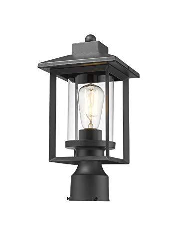 Rosient Outdoor Post Lights, Exterior Post Lantern, Outdoor Post Lamp, Pathway Post Lighting Fixture, Pillar Light in Black Finish