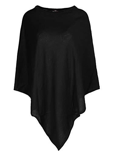 Zwillingsherz Poncho-Schal mit Baumwolle - Hochwertiges Cape für Damen - XXL Umhängetuch und Tunika mit Ärmel - Strick-Pullover - Sweatshirt - Stola für Sommer und Winter von Cashmere Dreams