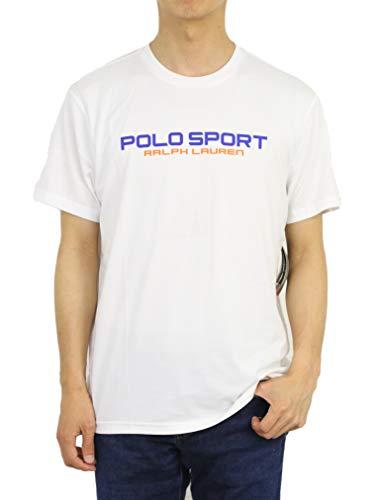 (ポロ ラルフローレン) POLO Ralph Lauren メンズ 半袖 POLO SPORT ポロスポーツ Tシャツ トレーニングシャツ 0107234-M-WHITE [並行輸入品]
