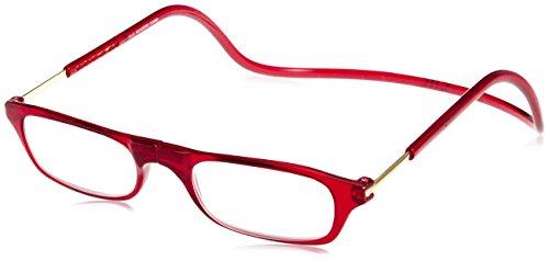 [クリックリーダー] 老眼鏡 Clic Readers メンズ レッド +2.00-(FREEサイズ)