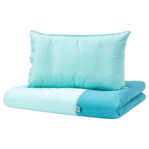 IKEA.. 603.637.62 Tillgiven Crib Duvet Cover/Pillowcase, Turquoise