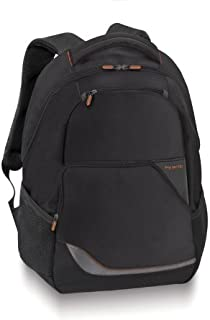 Solo Urban 16 Inch Laptop Backpack, Black with Orange Accents