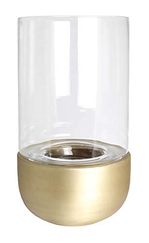 Kaheku Windlicht Cassani antik Gold, Ø 20 cm Aluminium Klarglas 99990420