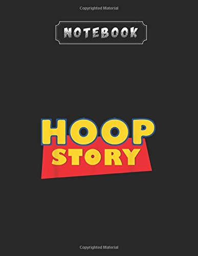 Notebook: Hoop Story Basketball Fan Street Hoop Black Design Cover Arts Large Marble Size for Notebook Writing and Learning to Write and Take Note with Line 8.5inchx11inch