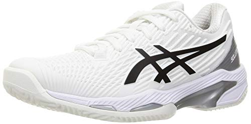 ASICS Solution Speed FF Clay, Zapatos de Tenis Mujer, White Black, 40.5...
