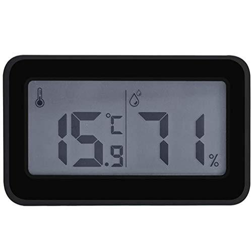 ZHIRCEKE Higrómetro termómetro Interno Digital, termómetro Espacio para la Temperatura Ambiente y la Humedad con Pantalla de 3 Pulgadas con niños,Negro