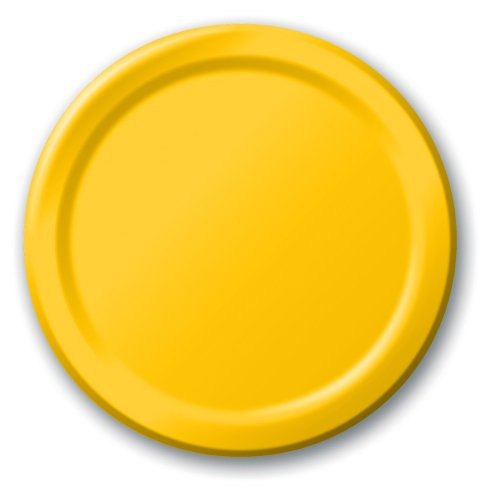 Creative Converting Touch of Color 24 Count Paper Lunch Plates, School Bus Yellow , one size -