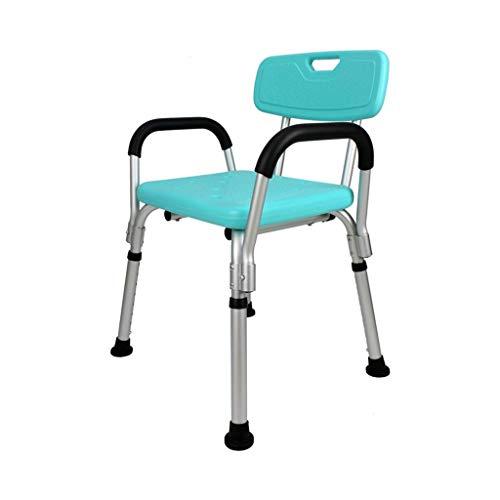 Inicio Accesorios Taburete de ducha Taburete de ducha Silla de baño Asiento de baño - Aluminio ligero - Altura ajustable - - Con apoyabrazos Ancianos discapacitados Embarazadas con 200 kg Taburetes