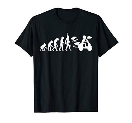 Pizzabote Pizza Lieferant Pizzafahrer Evolution Lustig T-Shirt