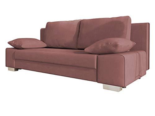 Mirjan24 Schlafsofa Laura, Couch mit Bettkasten und Schlaffunktion, freistehendes Schlafcouch, Couchgarnitur, Bettfofa, Sofa vom Hersteller (Solo 255)