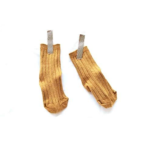 Hiinice Bebé Calcetines del niño Lindo Calcetines de algodón Suave Anti Slip Calcetines para Bebés Niños Amarillo, 1 par, Tamaño-S