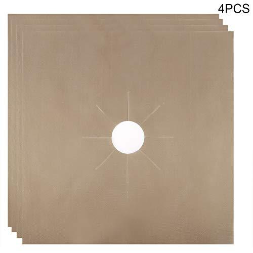 Jadpes Fornuis Mat, 4 Stks Herbruikbare Olie Proof Gas Fornuis Beschermers Mat Pad Thuis Keuken Liner Cover Pad