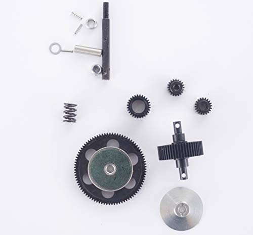RZXYL Steel Transmission Gear for 1/10 RC Crawler Transmission Case Gearbox SCX10
