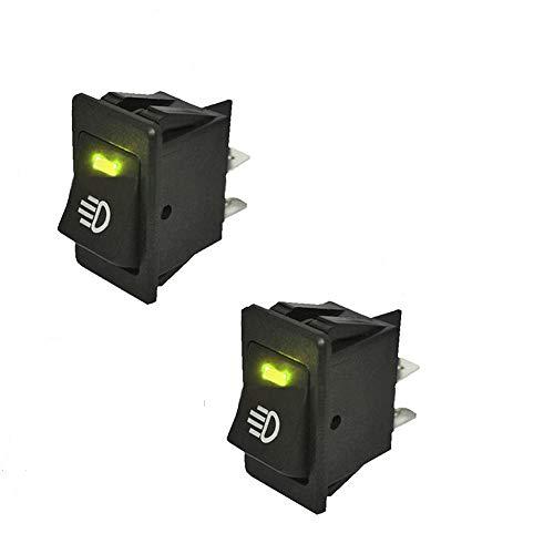 HOTSYSTEM 12V 35A Auto KFZ Schalter für Nebelscheinwerfer Scheinwerfer Wippschalter Ein-/Ausschalter Orange LED beleuchtet Wechsel Switch Kippenschalter 4 Polig