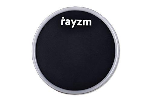 Rayzm Draagbare drum oefenpad - 15 cm (6 inch), rubberen slim pad, houdt op elk hard, vlak oppervlak voor rustig spelen, met water afwasbaar om zijn kleefkracht te behouden.