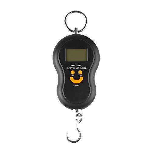 Andux Calibrador de tensión electrónico portátil digital negro con escala de tenis y gancho CBQ-01