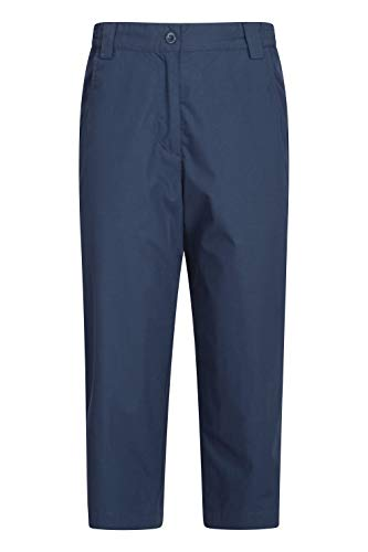 Mountain Warehouse Pantalones Capri Quest para Mujer - Ligeros, de Verano - Transpirables - Fácil Mantenimiento - para excursiones, Viajes, acampadas y Paseos Azul Marino 34