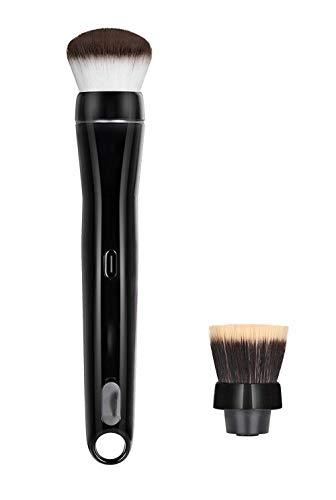 QWQ69 Pinceau de Maquillage électrique Pinceau cosmétique Rotatif à 360 degrés avec Fond de Teint synthétique de qualité supérieure et têtes Blush 2 têtes de Pinceau incluses Charge USB