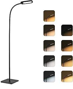 💡Optionale Lichtmodi: Die LED-Stehlampe bietet 5 Farbmodi und 4 Helligkeitsstufen für verschiedene Szenen. Mit unvergesslicher Lichtleistung. Um die Stehlampe auszuschalten, berühren Sie den Schalter länger als 3 Sekunden, um das Gerät auszuschalten....