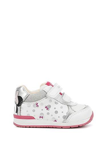 Geox - sneaker primo passo b rishon girl pelle e tessuto - 20 - white-silver