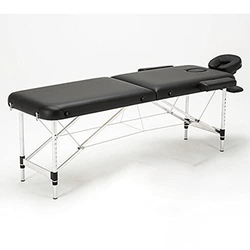 HuaBiao Table De Massage Pliante Aluminium Cosmetique Lit De Massage Portable 2 Sections avec...