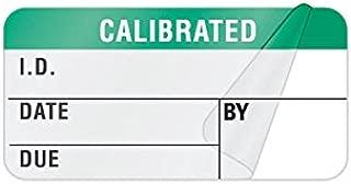 Calibration Label Large Self-Laminating 1.5